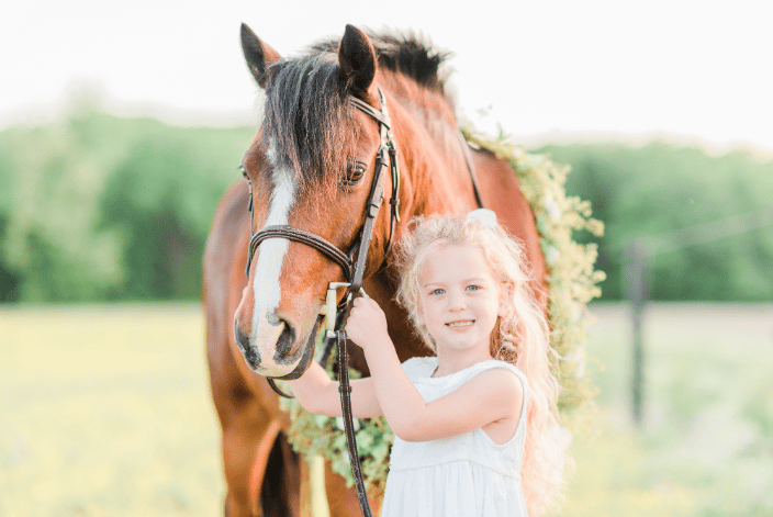 Girl with her pony